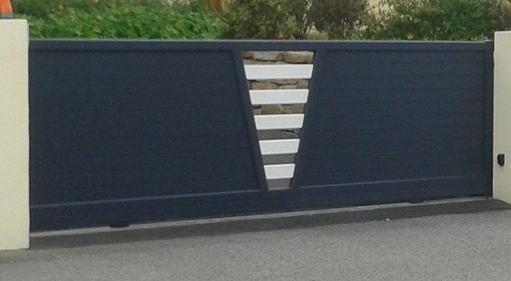 Pose de portail et cl ture autour de quimper plouhinec for Portail de cloture coulissant