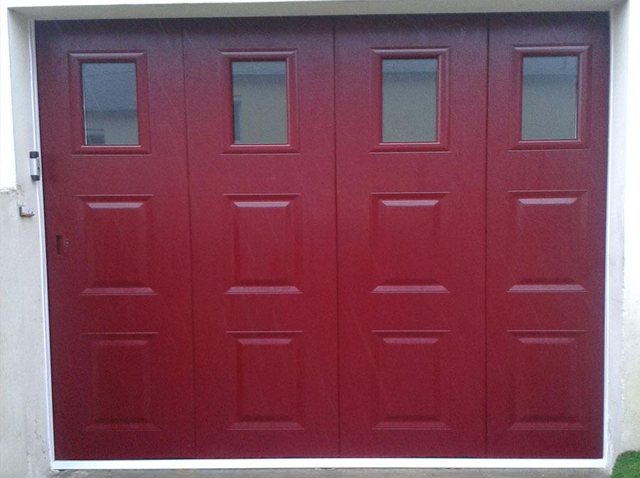 Pose de porte de garage autour de quimper audierne - Porte sectionnelle avec portillon tarif ...
