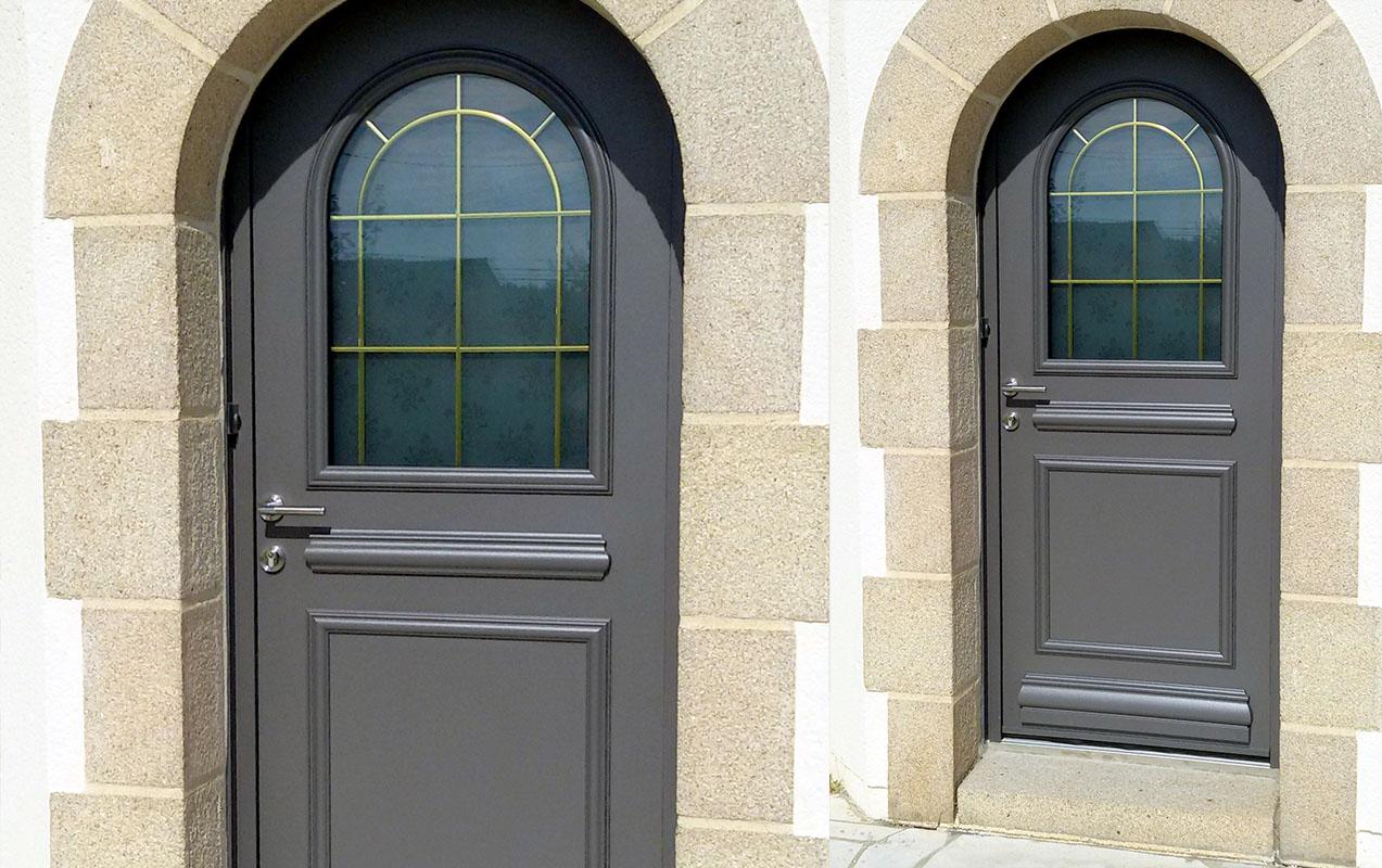 Pose De Porte Dentrée Aluminium Contemporaine Et Design Sur Quimper - Porte d entrée avec tierce